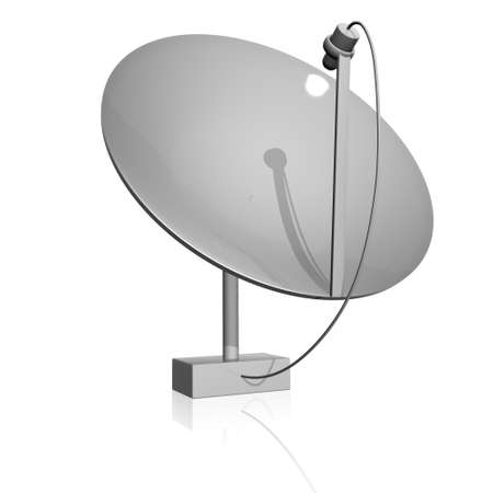 parabolic mirror: Receiver  Satelite dish Stock Photo