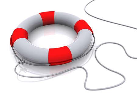 guard ship: Isolated 3d life buoy