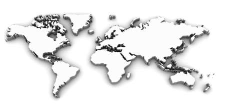world map 3d photo