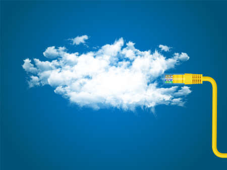 cloud illustration Stock Photo