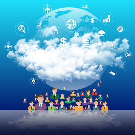 cloud computing and people Stock Photo