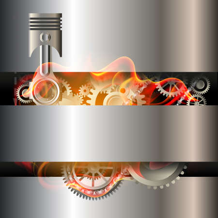 engine pistons background Stock Photo