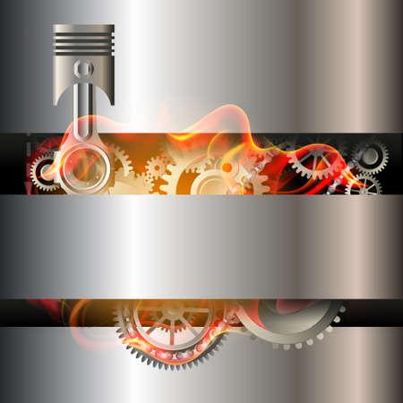 Motor Kolben Hintergrund