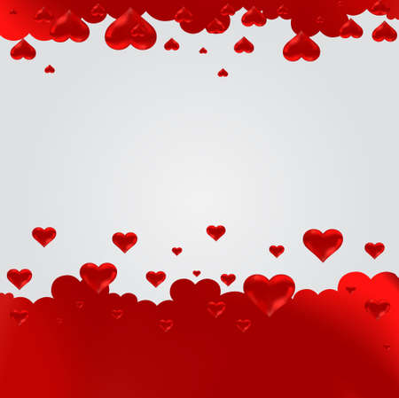Heart red seamless background