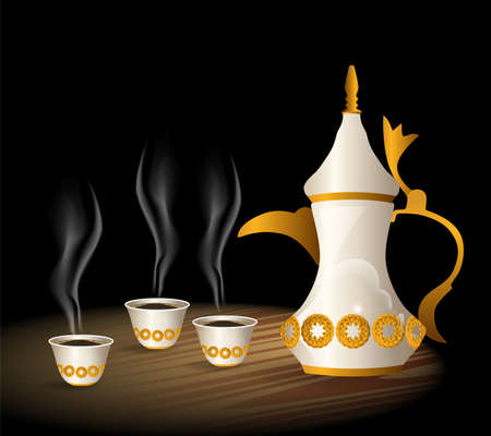 arabic Coffee cup Stock Photo