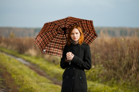 lady with umbrella Stock Photo - 15812030