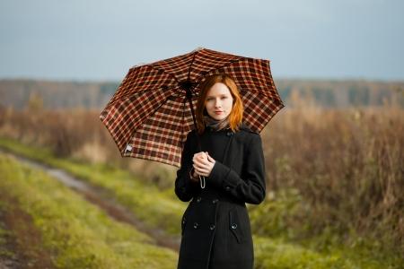 lady with umbrella Stock Photo - 15812030