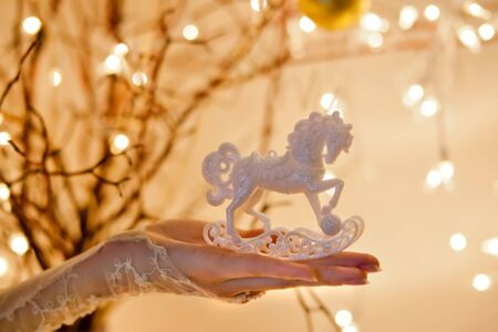Christmas Rocking Horse Ornament photo