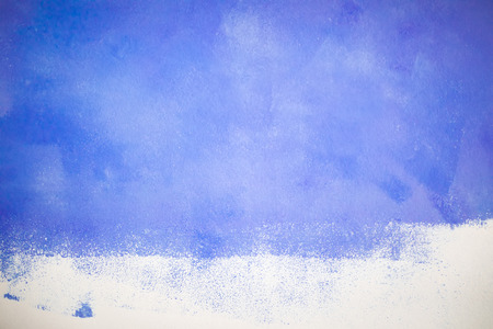 Abstract hand painted blue oil or acrylic paint canvas background, texture at the wall close up 版權商用圖片