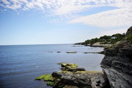 cliff edges: Breathtaking cliffy ocean shoreline near Newport, USA