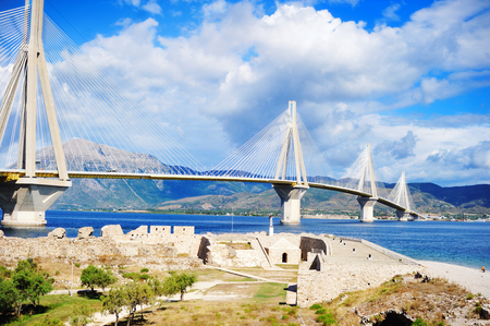 feat: The cable bridge between Rio and Antirrio, Patra, Greece