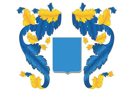 Geraldic background isolated vector element for blazon logo. Vector illustration. Illustration