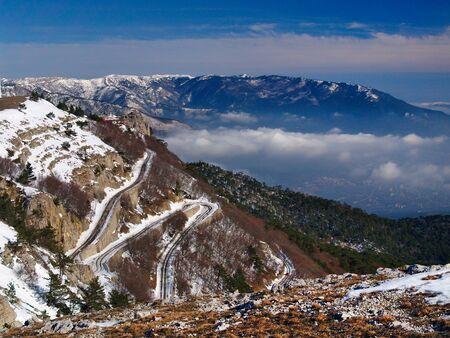 twisting: Twisting mountain road to AiPetri