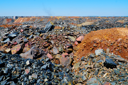 dumps: Dumps of depleted iron ore