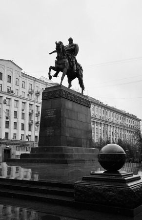 yuri: Monument of founder of the city of Moscow Yuri Dolgoruki at Tverskaya square