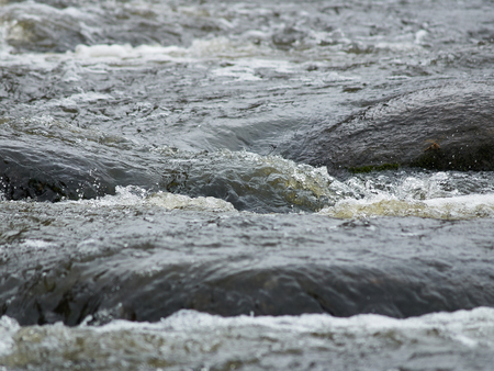 seething: View of seething river rapids