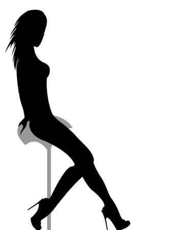 woman silhouette  Ilustração