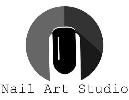 Black nail icon salon hands