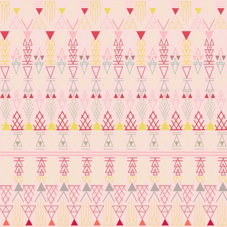 peachy: Aztec pastel peachy pattern illustration