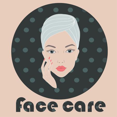 face care: Light face care icon illustration Illustration