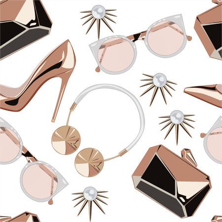 Rosa d'oro accessori modello illustrazione