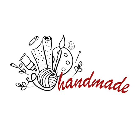 Hand made tools illustration