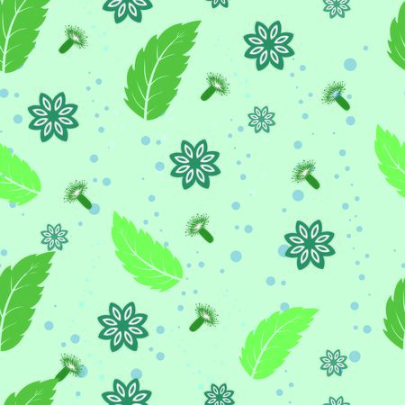 Mint anise and clove pattern illustration