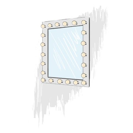 mirror with electric bulbs