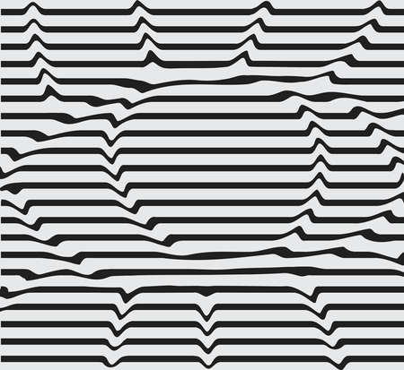 dent: Design monochrome motion illusion twisted twirl background. Abstract lines striped background distortion. Vector-art illustration line eyes, stencil, dent the image distortion of the surface.