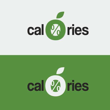 vector logo, icon, zero calories a stylized apple Illustration