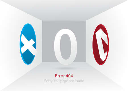 Error 404 page layout design. portal, which disappears page. web page creative concept and message Sorry, the page not found. Creative vector illustration