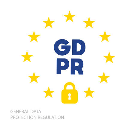 Symbol General Data Protection Regulation Banner Vector