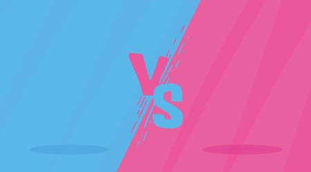 Blue and Pink Versus Screen Design Modern Banner
