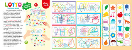 Contour Lotto Children Game Printable