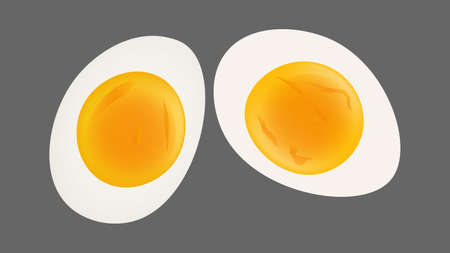 Boiled egg isolated vector illustration Illustration