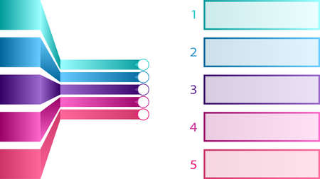 Empty infographic blank template vector design. Colored stickers vector