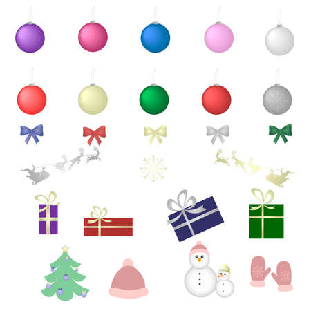 Set of Christmas icons vector design. Christmas icons isolated on white background