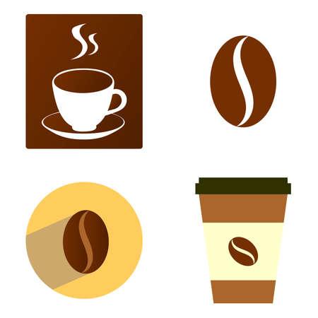 Coffee icons vector design