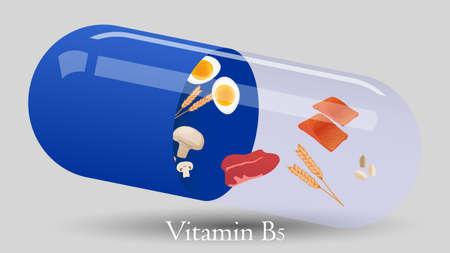 Vitamin pill vector design. Vitamin B5 vector illustration