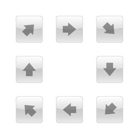 Arrows glass icons vector design Stock Illustratie