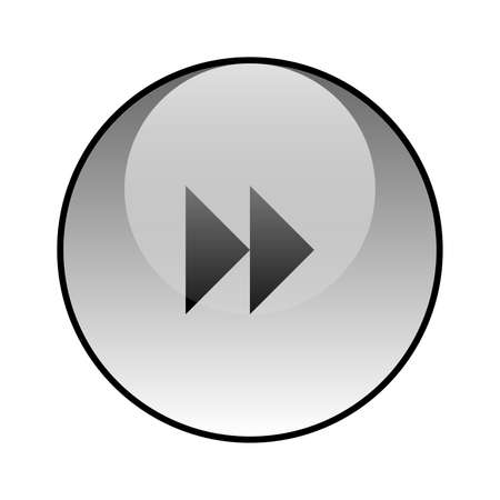 Rewind next glass icon vector design Stock Illustratie