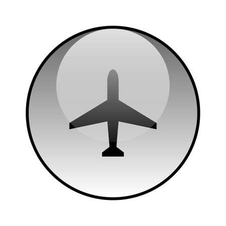 Plane glass icon vector design