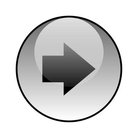 Arrow right glass icon vector design