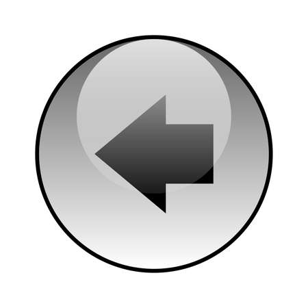Arrow left glass icon vector design