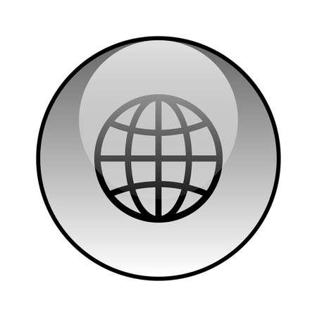 Globe glass icon vector design