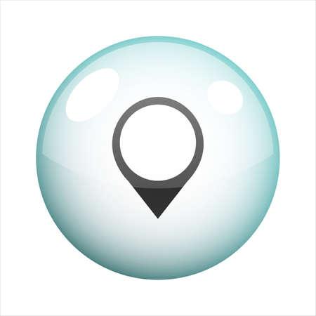Pointer bubble icon vector design