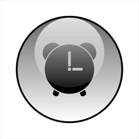 Alarm glass icon vector design. Clock icon