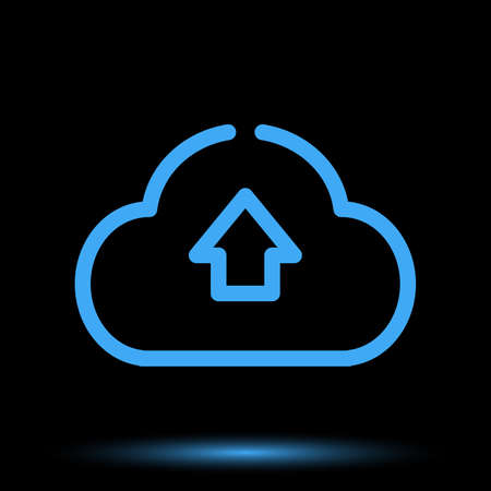 Web cloud neon icon unique design vector Illustration