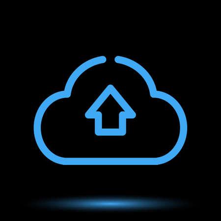 Web cloud neon icon unique design vector Banque d'images - 129840707