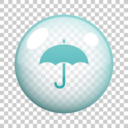 Umbrella icon vector design.